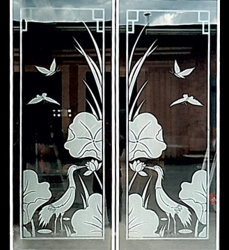 Custom Glass Sandblasting Designs Porch Enclosures