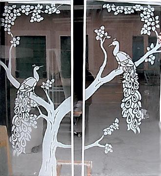 Custom Glass Sandblasting Designs Porch Enclosures